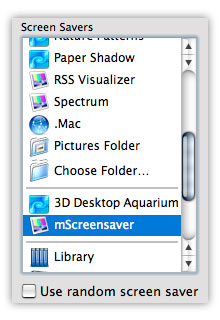 screen saver system preference